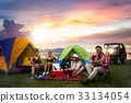 Camping of asian man and women group 33134054