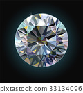 diamond, gem, vector 33134096