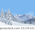 Winter mountain landscape. Lifts for skiing Vector 33134141