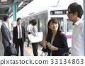 火車 電氣列車 通勤 33134863