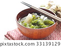 Aosa and radish miso soup 33139129