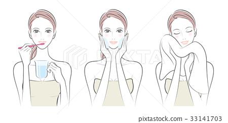 女性的面部表情 33141703