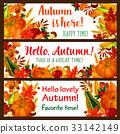 autumn, banner, fall 33142149