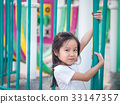 Happy asian baby child playing on playground 33147357