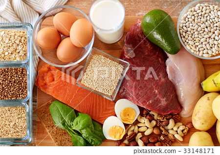 natural protein food on table 33148171