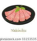 Yakiniku icon, cartoon style 33153535