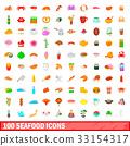 100 海鮮 圖標 33154317