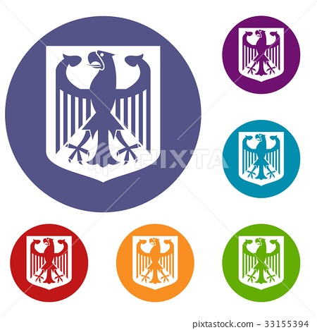 Coat of Arms of Germany icons set 33155394