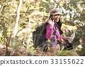 Mountain Girl Backpacker Trekking 33155622