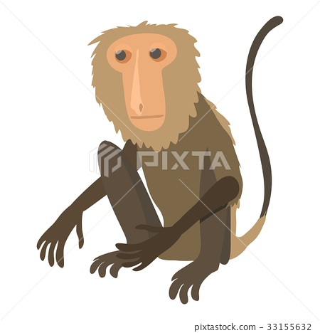 Sitting monkey icon, cartoon style 33155632