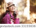 山女孩背包客徒步旅行 33155636