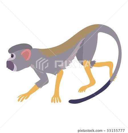 Going forward monkey icon, cartoon style 33155777