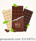 Vector Chocolate Package Bar Blank - Milk, White 33158751