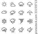 General weather icon concept. 33159713