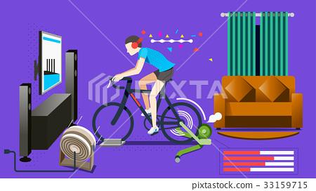 Modern Home exercise concept. 33159715