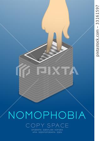 Nomophobia syndrome smartphone addiction concept 33161597
