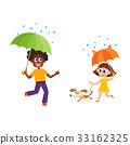เวกเตอร์,ฝนตก,ร่ม 33162325