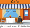 The cafe and the table. 33164410