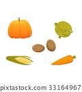 矢量 矢量图 蔬菜 33164967