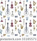 Digital vector blue red music instruments 33165571