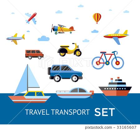 Digital vector blue red travel transport 33165607