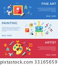 Digital vector blue red artist 33165659