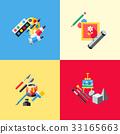 Digital vector blue red artist 33165663