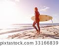 海滩 海洋 冲浪者 33166839