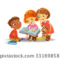 Cute children reading books 33169858