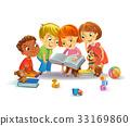 Cute children reading books 33169860