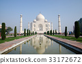 Original, Taj Mahal Seven Wonders Concept, India, 33172672