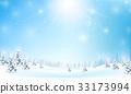 winter, snow, vector 33173994