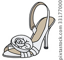 White bridal slipper 33177000