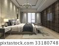 luxury modern bedroom suite in hotel wardrobe 33180748