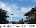 kyoto tower, kyoto, blue sky 33183091