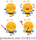 蜜蜂 卡通人物 蟲子 33183123