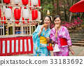tourists going to japan participate festivals 33183692