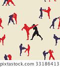 Thai boxing. Muay Thai martial art vector i 33186413