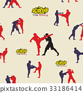 Thai boxing. Muay Thai martial art vector i 33186414