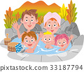 가족 온천 단풍 가을 33187794
