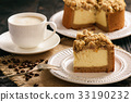 Homemade cheesecake with capuccino. 33190232