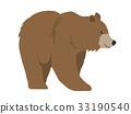 동물, 벡터, 곰 33190540