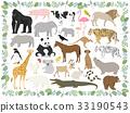 動物 矢量 大猩猩 33190543
