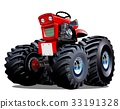 Vector Cartoon Tractor 33191328