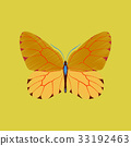flat shading style icon butterfly 33192463