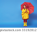 child with red umbrella 33192812