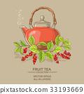 schisandra tea illustration 33193669