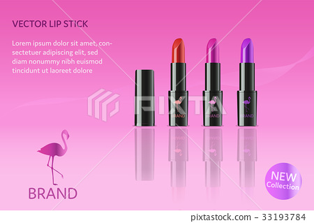 Brand. Lip stick in different colors with flamingo 33193784