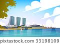 Singapore City View Skyscraper Background Skyline 33198109