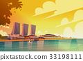 Singapore City View Skyscraper Background Skyline 33198111